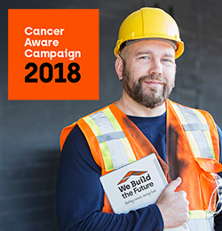 Campaign with us - Cancer Aware 2018 photograph